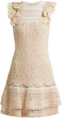 Jonathan Simkhai Ruffle-trimmed macramé-lace dress