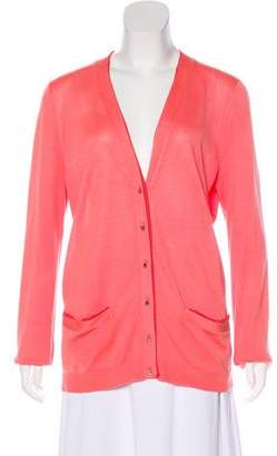 Lela Rose Silk Long Sleeve Cardigan