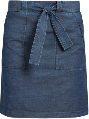 A.P.C. Nairobi cotton-chambray mini skirt $155 thestylecure.com