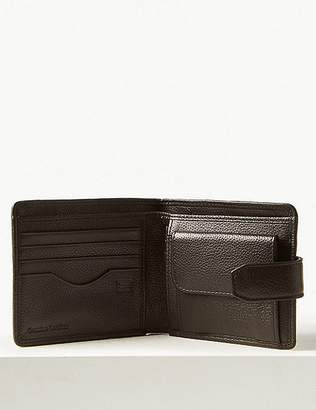 """Marks and Spencer Leather Classic Bi Fold Coin Wallet with Cardsafeâ""""¢"""