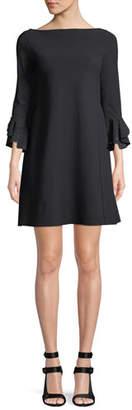 Chiara Boni Acurabis Short Cocktail Dress w/ Studded Cuffs