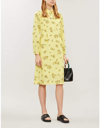 Samsoe & Samsoe Musa floral-print long-sleeved crepe dress