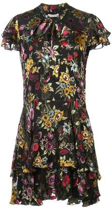 Alice + Olivia Alice+Olivia Western floral patterned mini dress