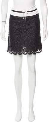 Anna Sui Guipure Lace Mini Skirt