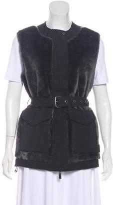 Hunter Belted Faux Fur Vest