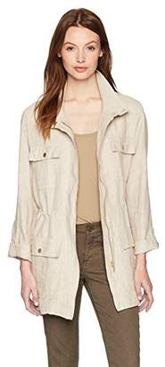 Jones New York Women's Crossdye Linen Safari Jacket