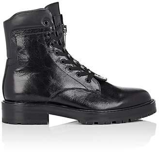 Saint Laurent Men's William Leather Double Lace-Up Boots