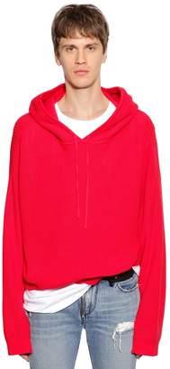 RtA Hooded Cotton Knit Sweater