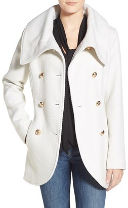 Women's Jessica Simpson Double Breasted Basket Weave Coat $198 thestylecure.com