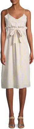 Line And Dot Ryline Striped Sleeveless Midi Dress