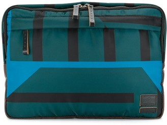 Marni x Porter striped clutch bag