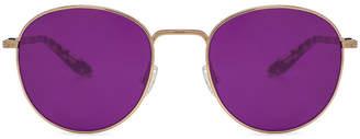 Barton Perreira Tudor Sunglasses in Gold, Crystal & Heroine Chic Custom Purple Amethyst Lenses | FWRD