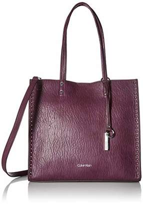 Calvin Klein womens Zoey Bubble Lamb North/South Large Tote