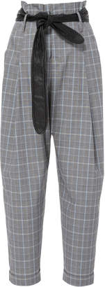 Marissa Webb Anders Plaid Pant with Leather Belt