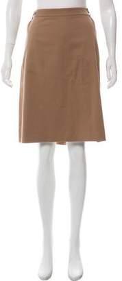 Loro Piana A-Line Knee-Length Skirt