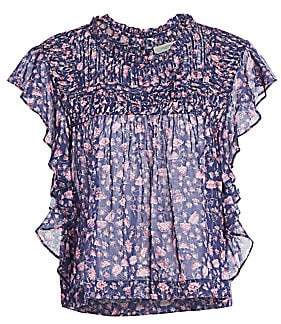 Etoile Isabel Marant Women's Layona Flutter-Sleeve Floral Top