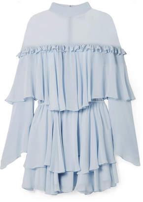 Caroline Constas Tessa Tiered Ruffled Silk-chiffon Mini Dress