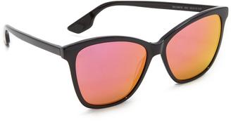 McQ - Alexander McQueen Mirrored Wayfarer Sunglasses $139 thestylecure.com