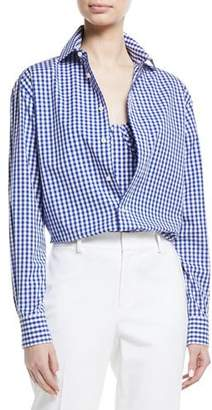 Ralph Lauren Adrien Gingham Check Cotton Shirt