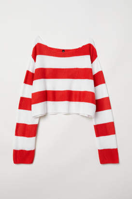 H&M Striped Sweater - Red