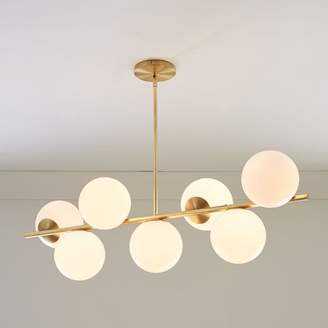 west elm Sphere + Stem 7-Light Chandelier - Brass