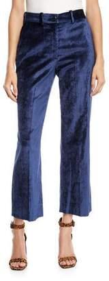 Rag & Bone Libby Velvet Cropped Flare-Leg Pants