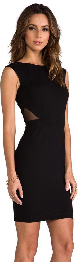 Haute Hippie Dress with Deep V Back and Side Cut Outs