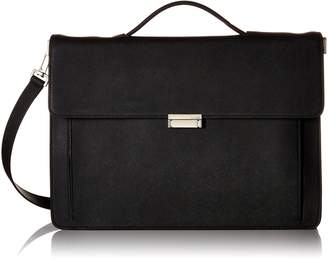 Jack Spade Men's Barrow Leather Top Handle Brief Briefcase