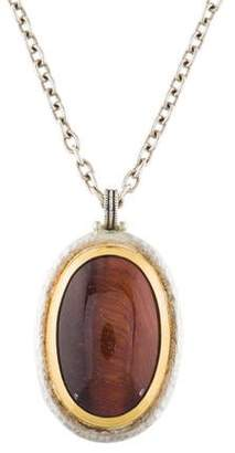 Gurhan Red Tiger's Eye Pendant Necklace
