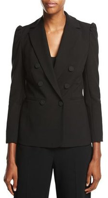 Rebecca Taylor Double-Breasted Suiting Blazer, Black $495 thestylecure.com