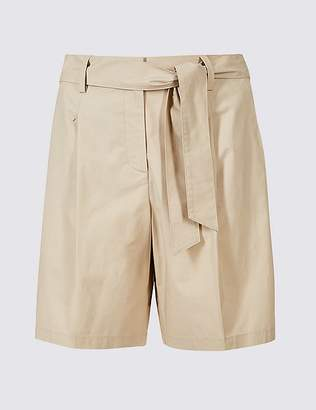 Marks and Spencer Cotton Rich Tailored Shorts