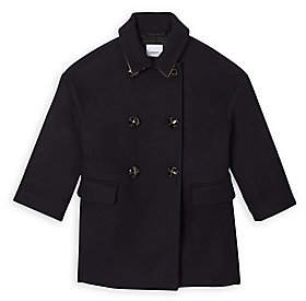 Burberry Women's Little Kid's & Kid's KG6 Agnella Double-Breasted Wool Coat