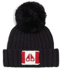 Moose Knuckles Moose Flag Pom-Pom Bobble Hat