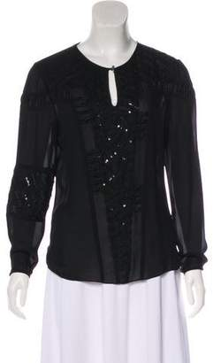 Prabal Gurung Long Sleeve Silk Blouse