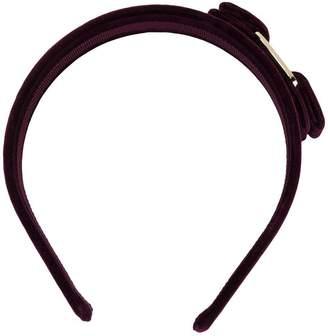 Salvatore Ferragamo Vara bow velvet headband