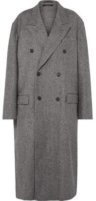 Rokh - Oversized Double-breasted Wool-blend Coat - Gray