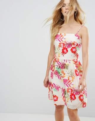 Lavand Strappy Floral Dress