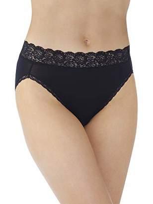 Vanity Fair Women's Flattering Lace Hi Cut Panty