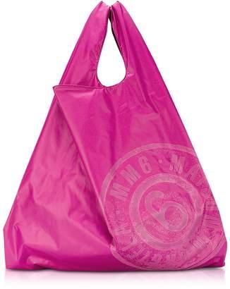 Maison Margiela Pink & Red Double Face Nylon Market Bag w/Logo