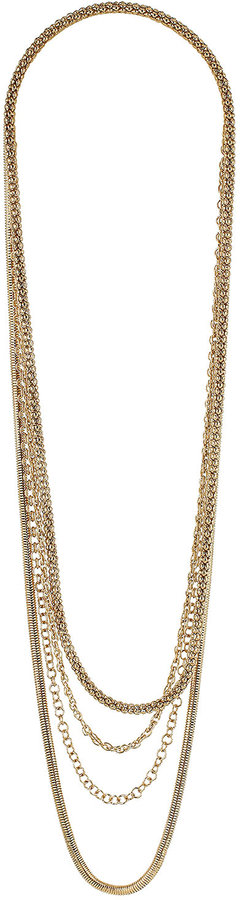 Mixed Chains Multi Row Necklace