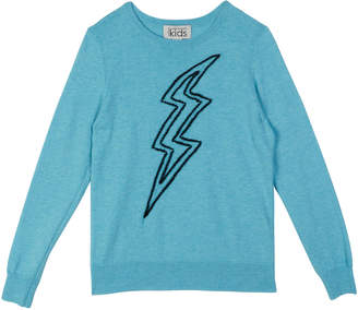 Autumn Cashmere Lightning Bolt Embroidery Top, Size 8-14