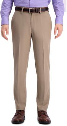 Haggar Men's Cool 18 PRO Slim-Fit Wrinkle-Free Flat-Front Super Flex Waist Pants