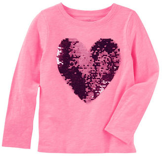 Two-Sided Sequin Heart Tee $26 thestylecure.com