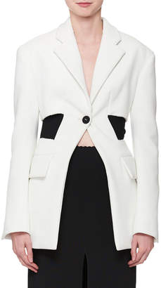 Proenza Schouler Single-Button Long-Sleeve Blazer Jacket