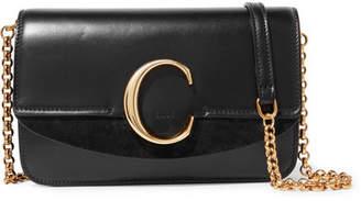 Chloé C Mini Leather Shoulder Bag - Black