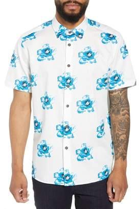 Ted Baker Silky Trim Fit Short Sleeve Sport Shirt