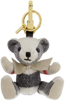 Burberry Grey Thomas Check Keychain