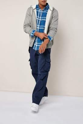 Next Mens Navy Cargo Trousers