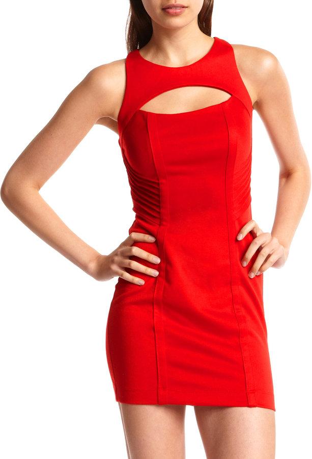 Cutout-Front Ponte Dress