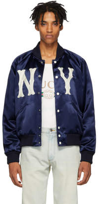 Gucci Blue New York Yankees Edition Jacket